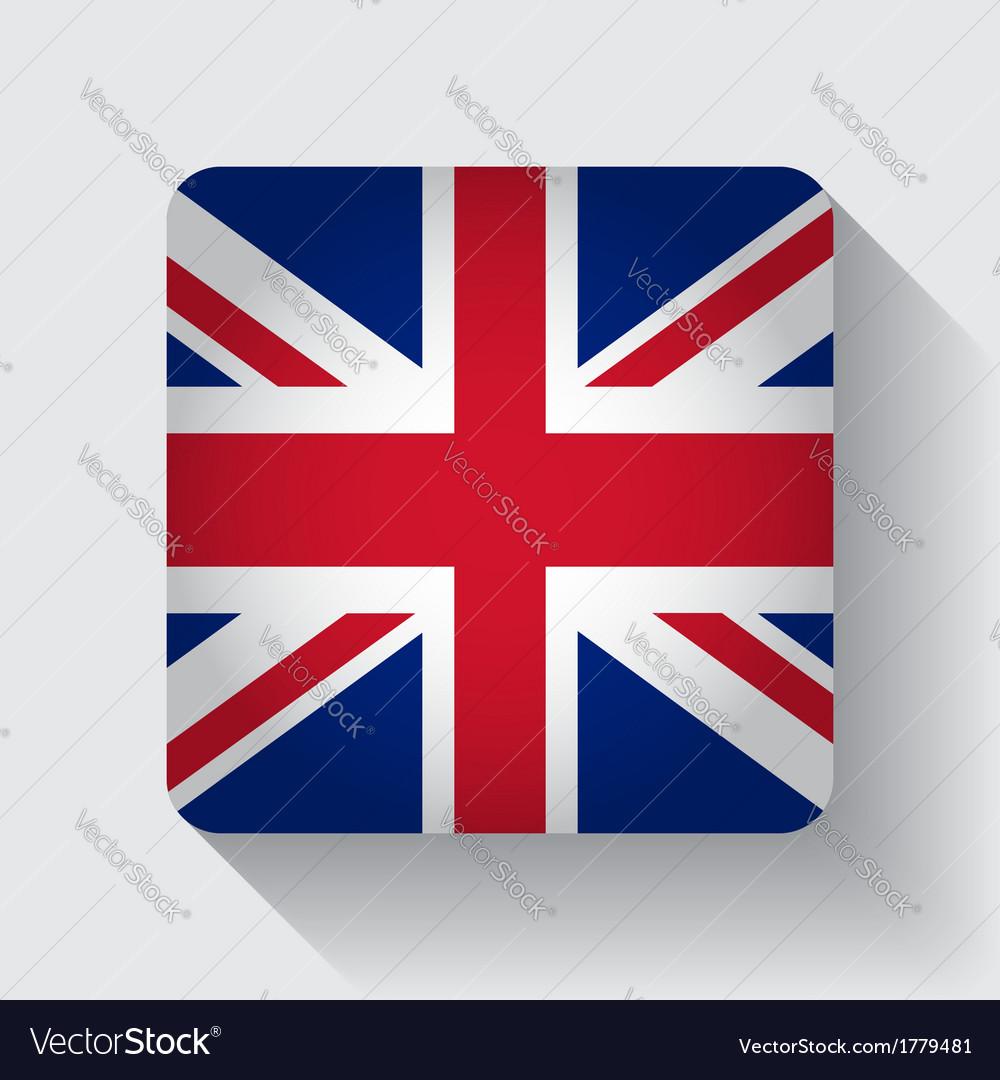 Web button with flag of the uk vector | Price: 1 Credit (USD $1)