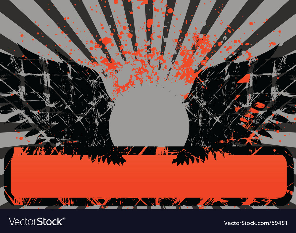 Wings grunge vector | Price: 1 Credit (USD $1)