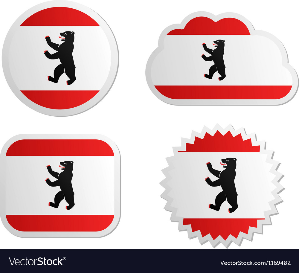 Berlin flag labels vector | Price: 1 Credit (USD $1)