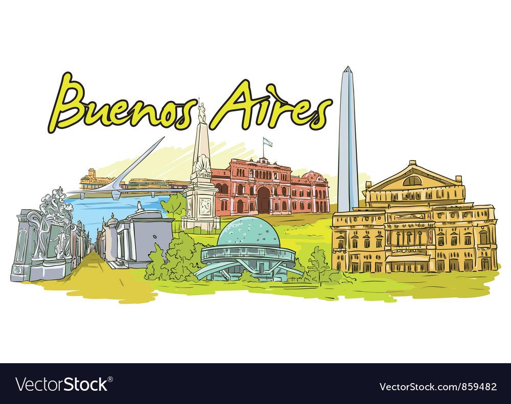 Buenos aires doodles vector   Price: 3 Credit (USD $3)