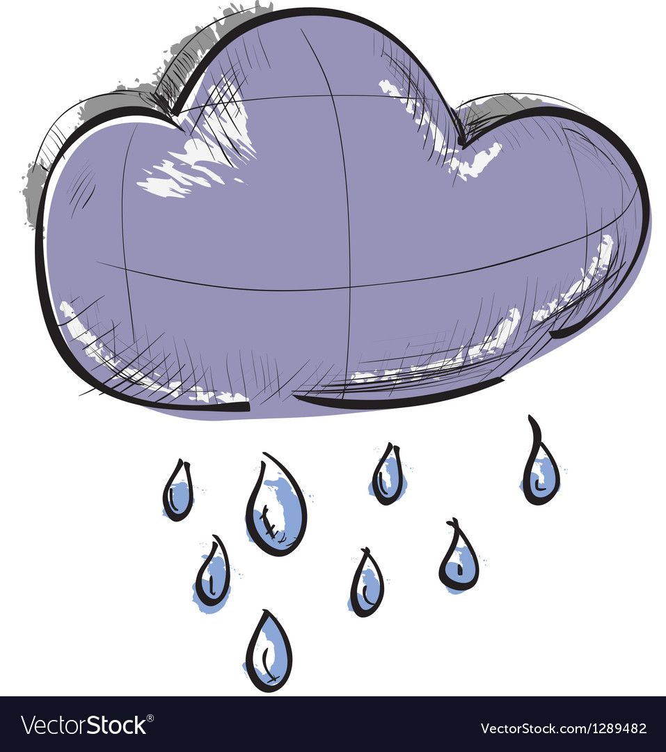Cloud with rain weather icon vector | Price: 1 Credit (USD $1)