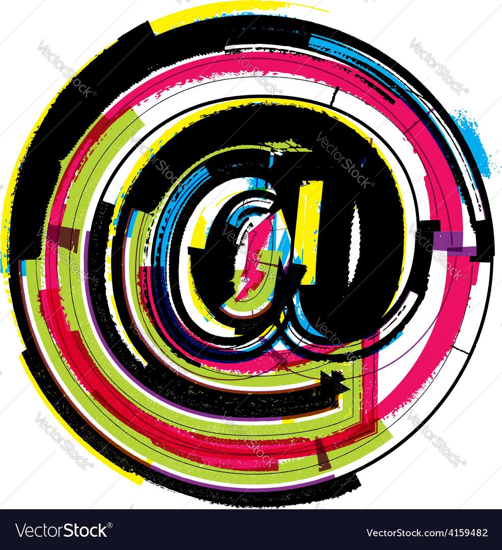 Colorful grunge symbol vector | Price: 1 Credit (USD $1)