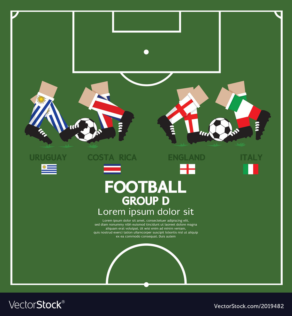 Group d 2014 football tournament vector | Price: 1 Credit (USD $1)