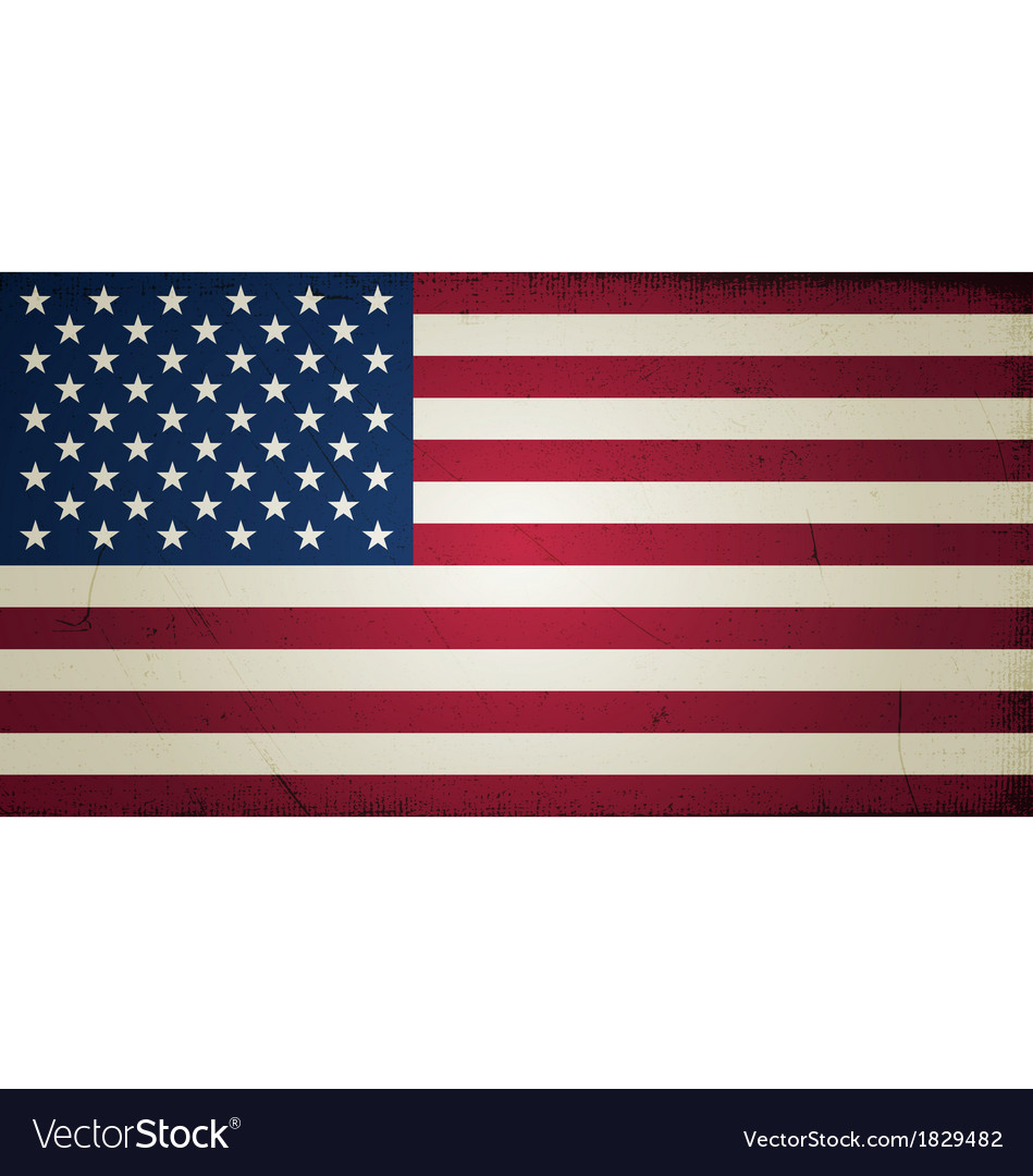Grunge flags - united states of america vector | Price: 1 Credit (USD $1)