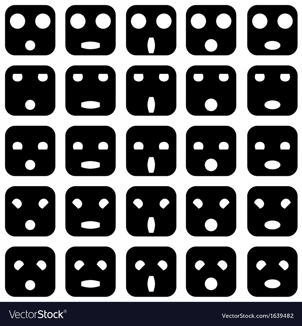 Icons of smiley emotion faces vector   Price: 1 Credit (USD $1)