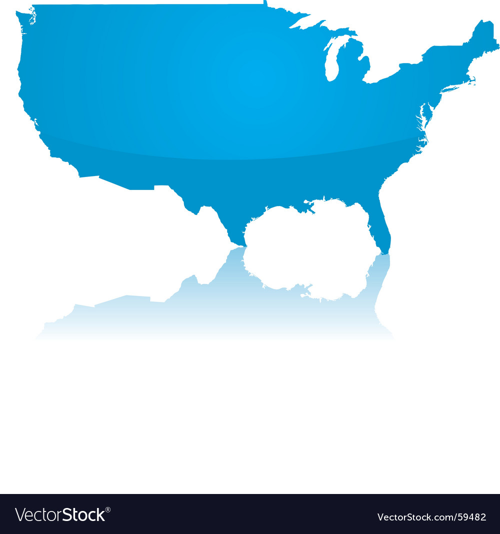 Map of the usa vector | Price: 1 Credit (USD $1)