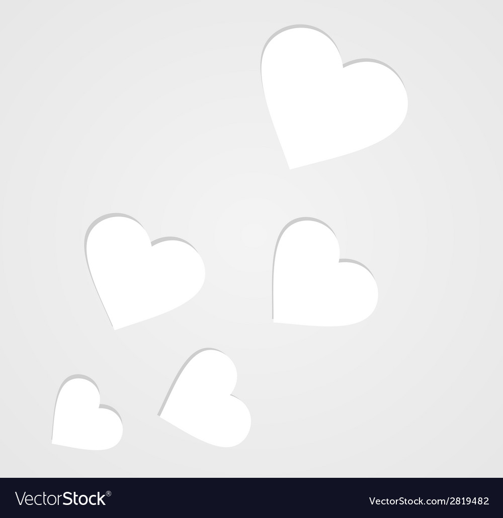 Paper hearts on grey vector | Price: 1 Credit (USD $1)