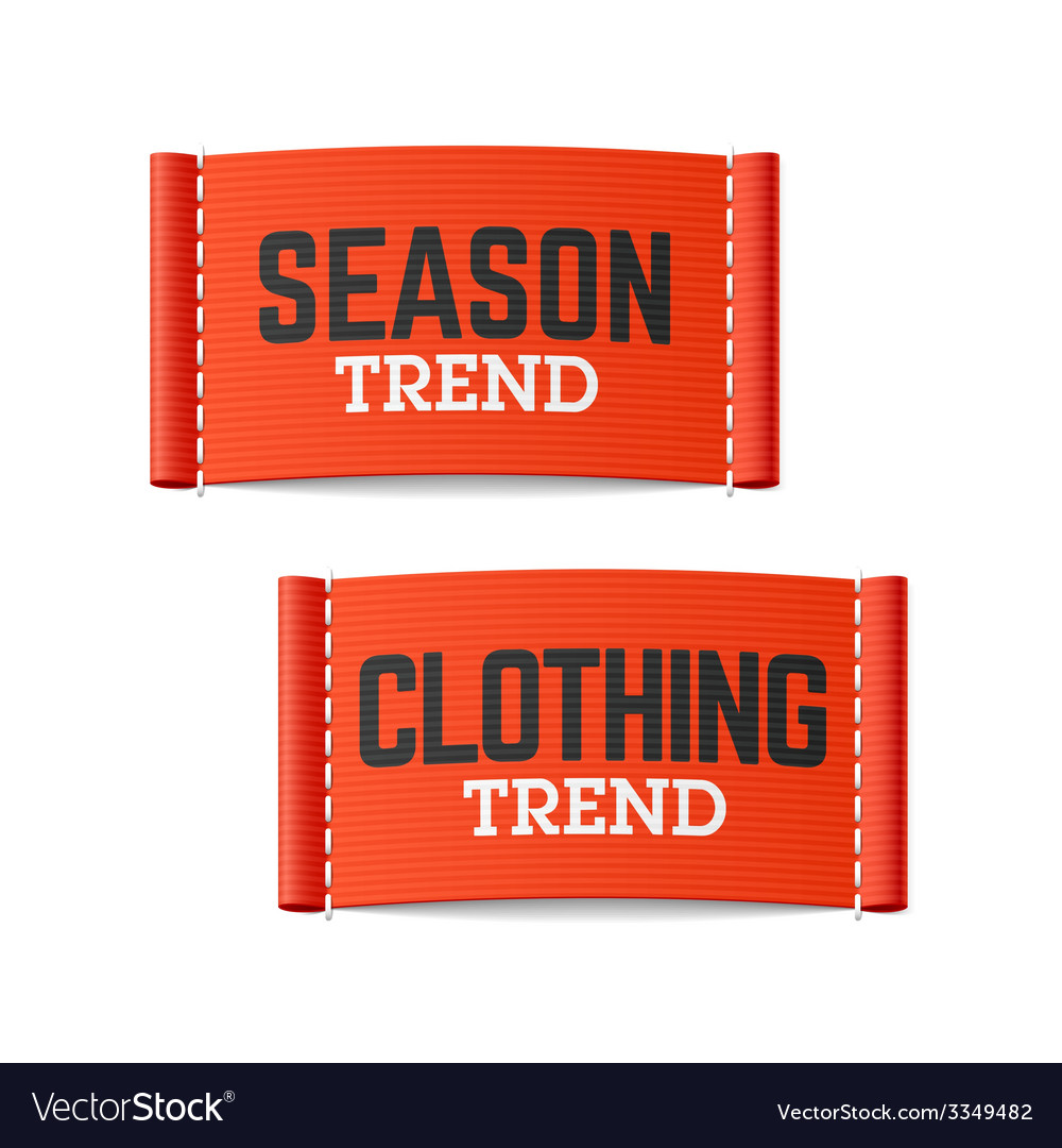 Season and clothing trend labels vector | Price: 1 Credit (USD $1)