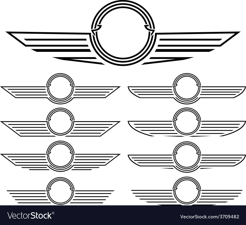 Set of insignias vector | Price: 1 Credit (USD $1)