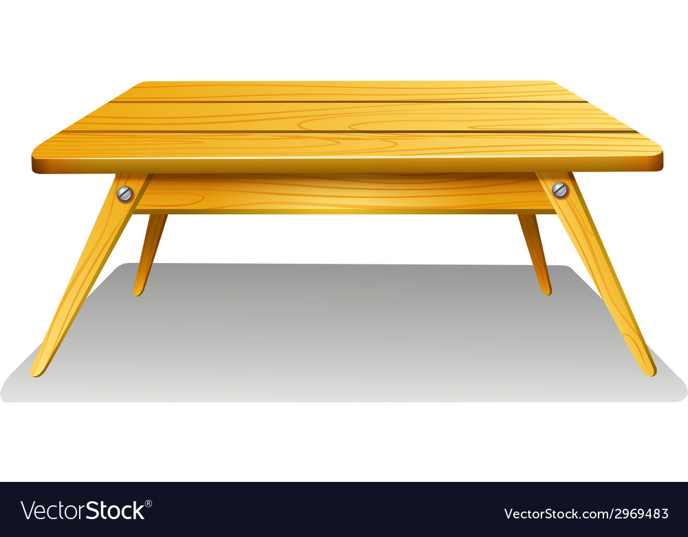 A wooden table vector | Price: 1 Credit (USD $1)