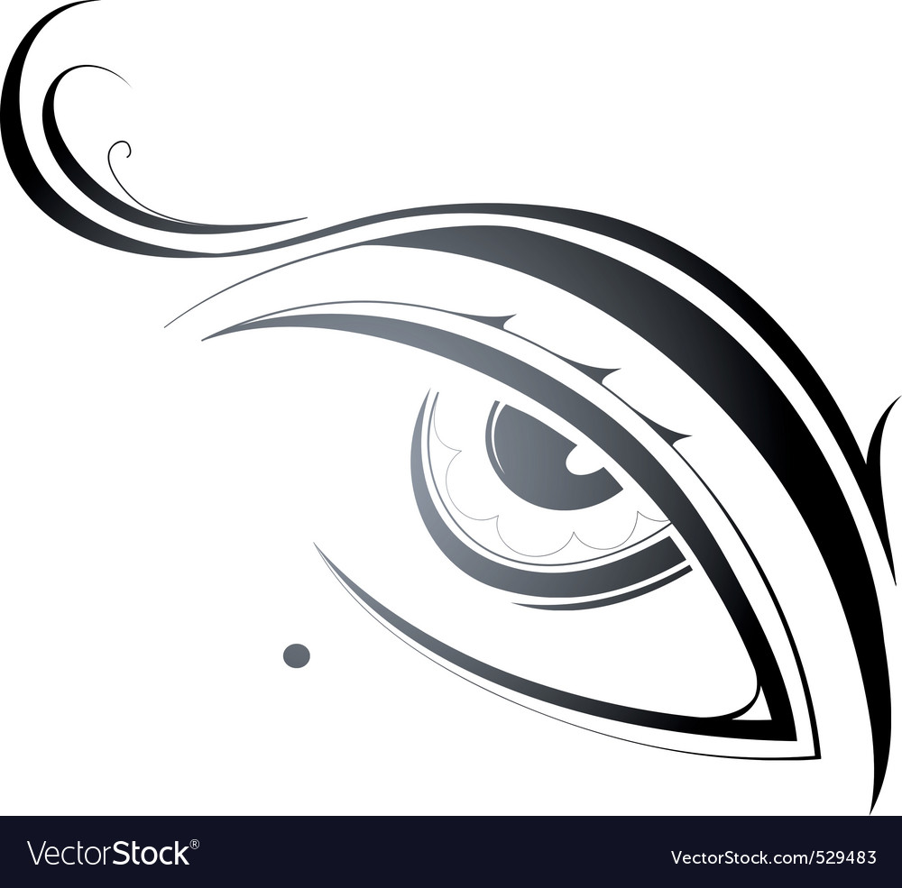 Artistic eye vector | Price: 1 Credit (USD $1)
