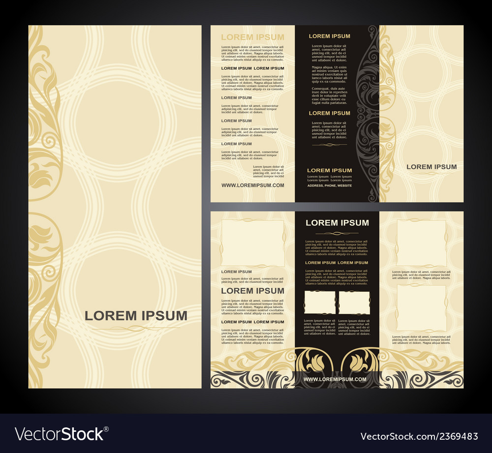 Brochure template vintage light vector | Price: 1 Credit (USD $1)