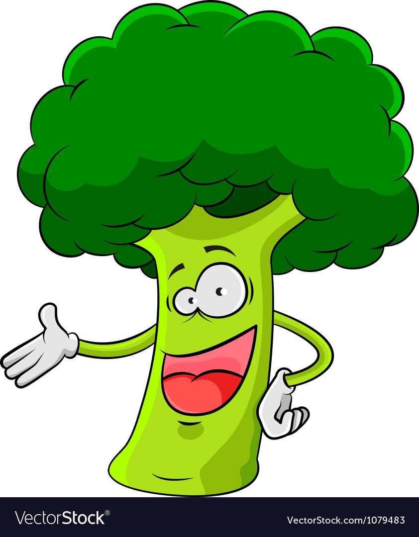Cartoon broccoli vector | Price: 1 Credit (USD $1)