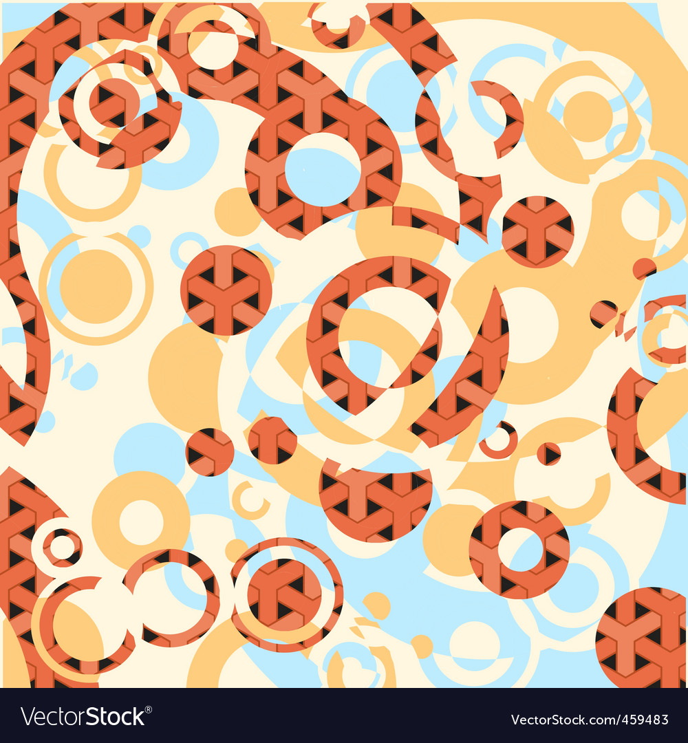 Circles on decorative background vector | Price: 1 Credit (USD $1)