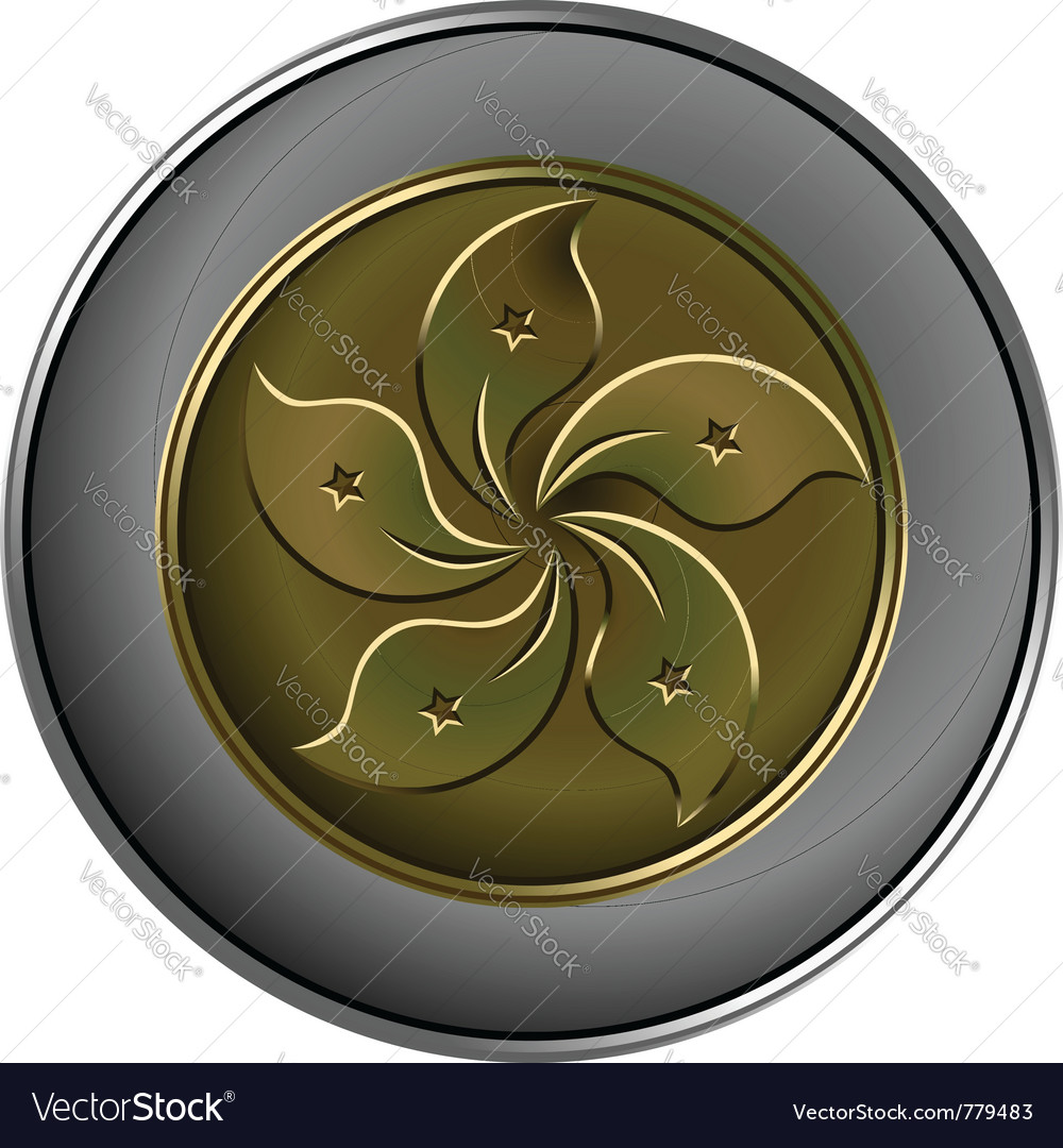 Gold and silver chinese coin vector | Price: 1 Credit (USD $1)