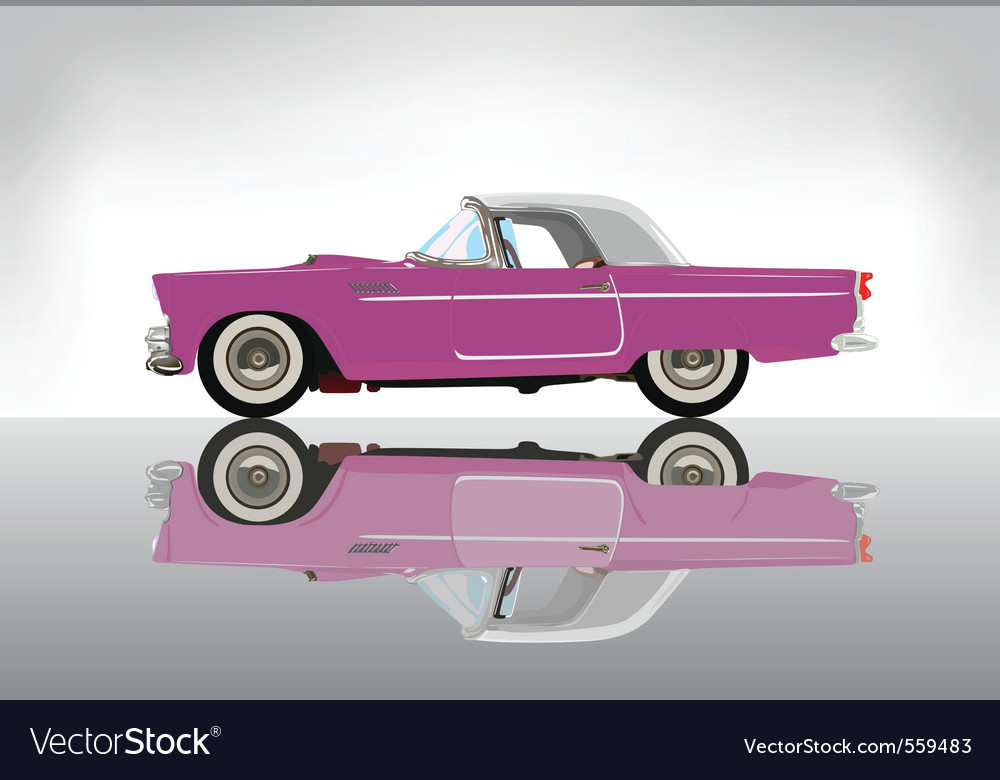 Pink classic auto vector | Price: 3 Credit (USD $3)