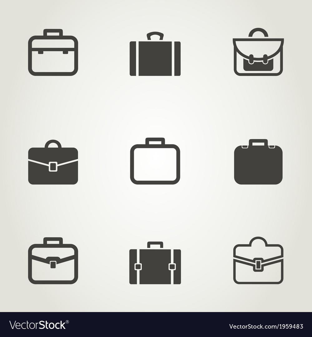 Portfolio an icon vector | Price: 1 Credit (USD $1)