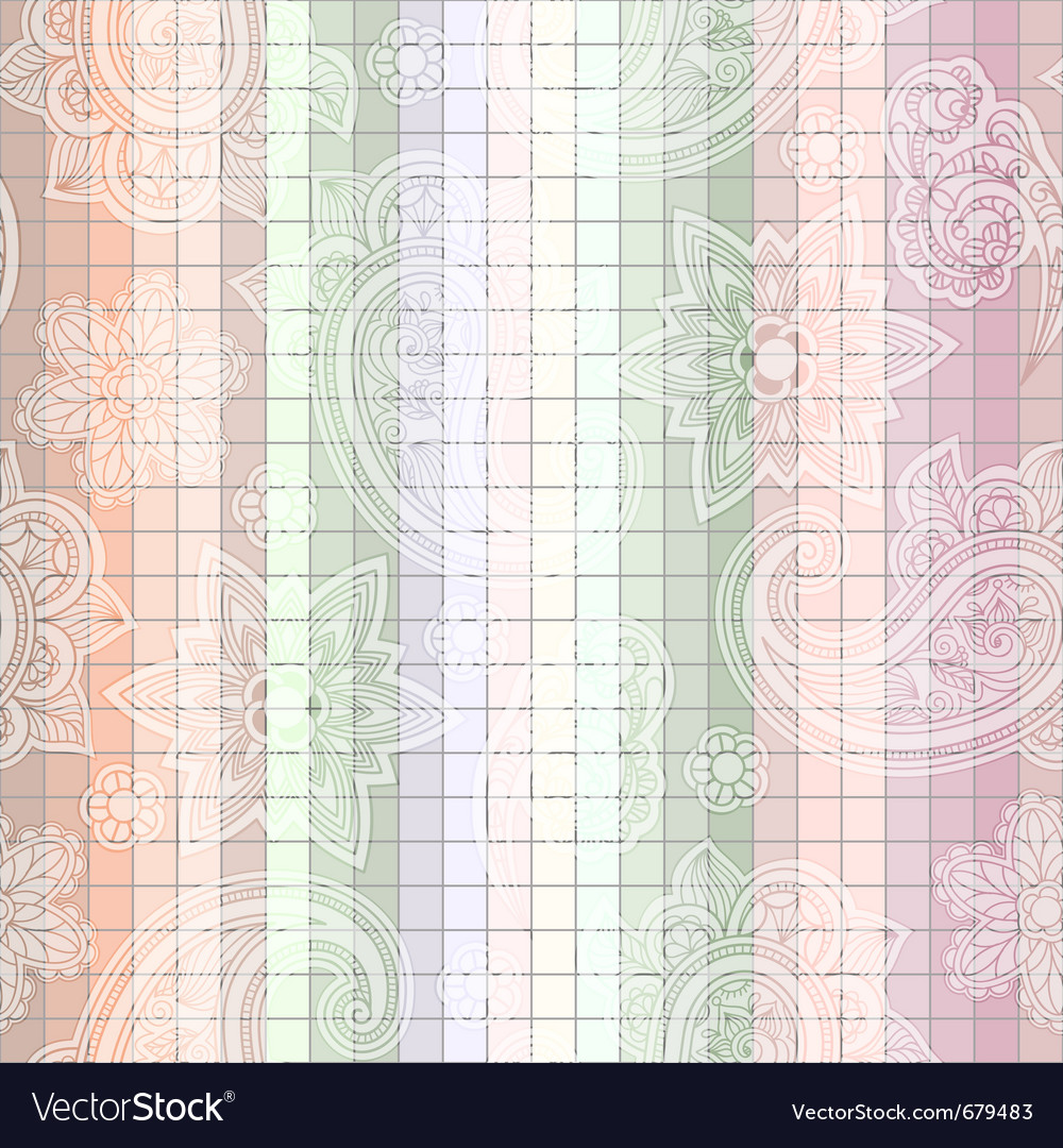 Seamless paisley tile vector | Price: 1 Credit (USD $1)