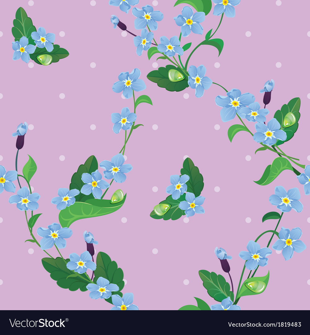 Seamless pattern with beautiful flowers vector | Price: 1 Credit (USD $1)