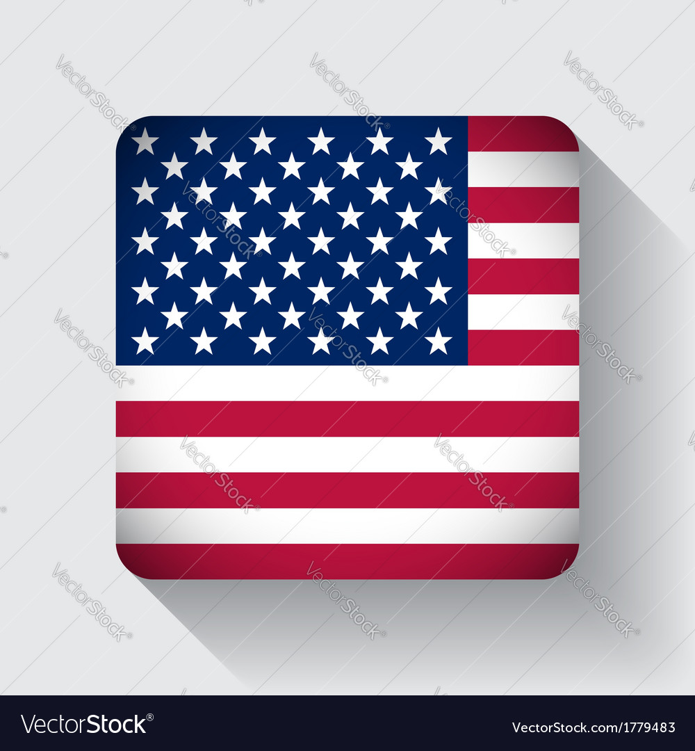 Web button with flag of the usa vector | Price: 1 Credit (USD $1)
