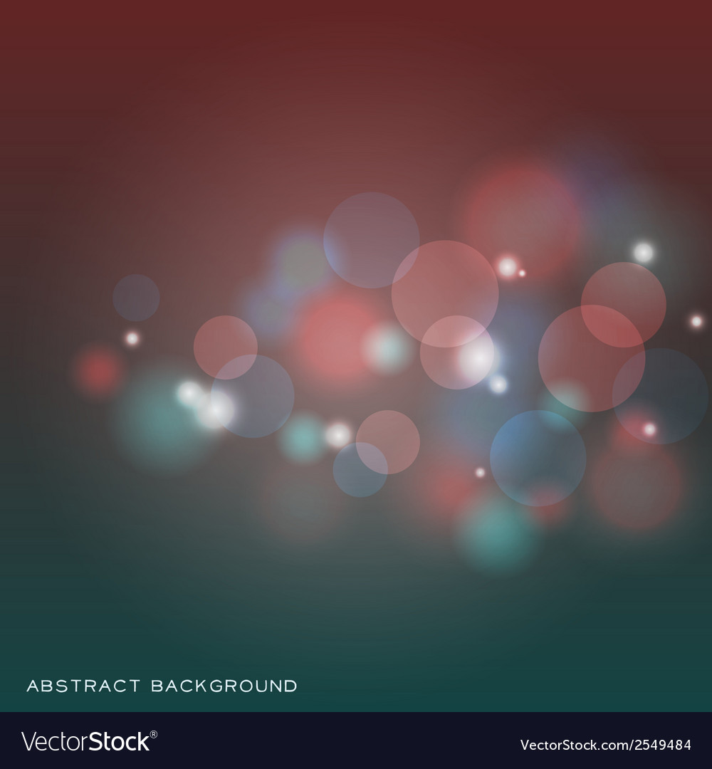 Abstract colorful bokeh background vector | Price: 1 Credit (USD $1)