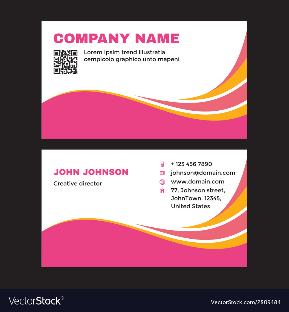 Business visit card vector | Price: 1 Credit (USD $1)