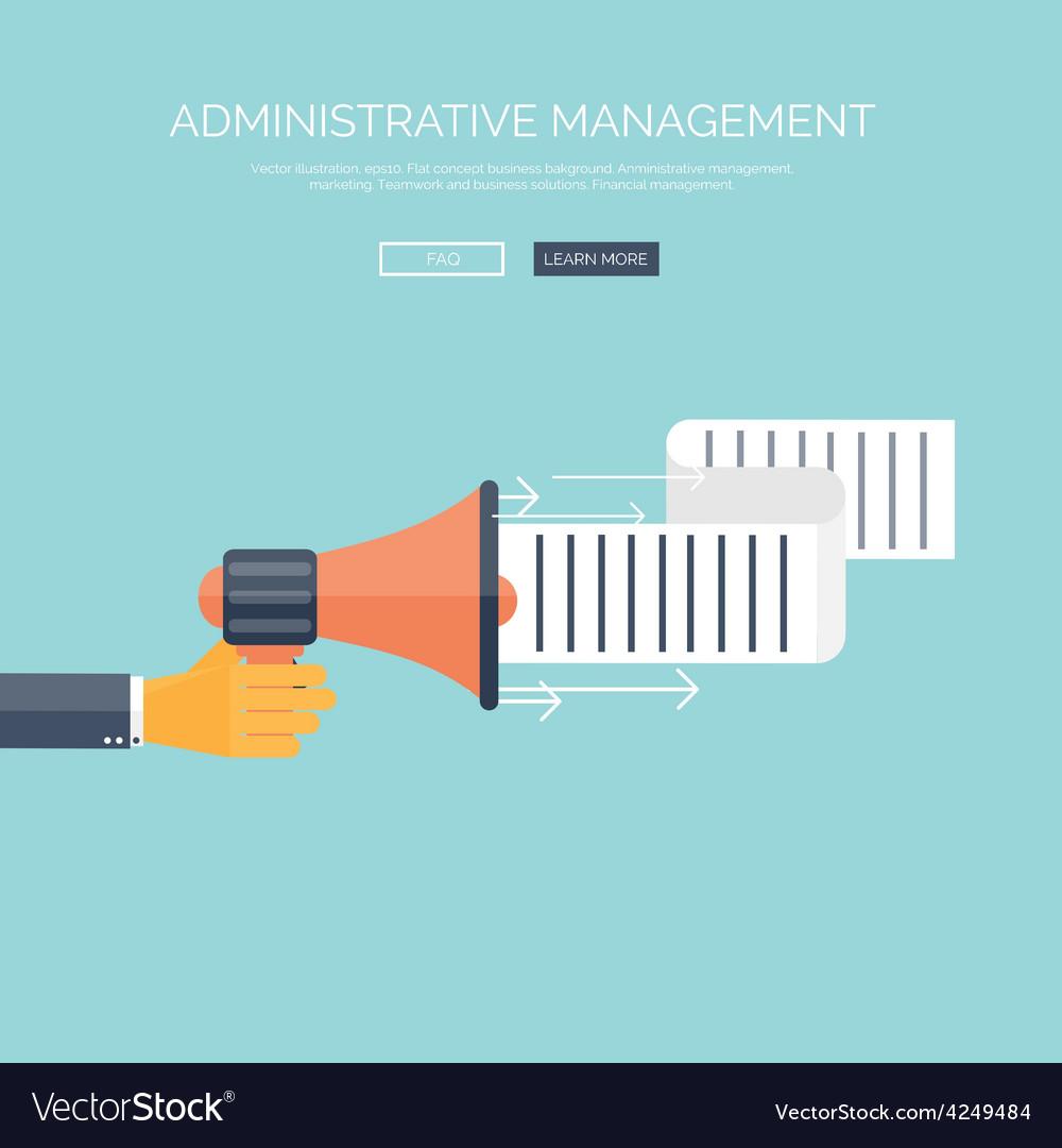 Flat loudspeaker icon administrative management vector | Price: 1 Credit (USD $1)