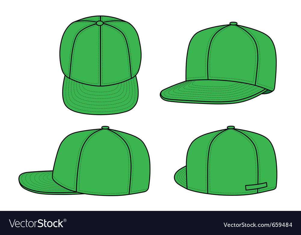 Green rap cap vector | Price: 1 Credit (USD $1)