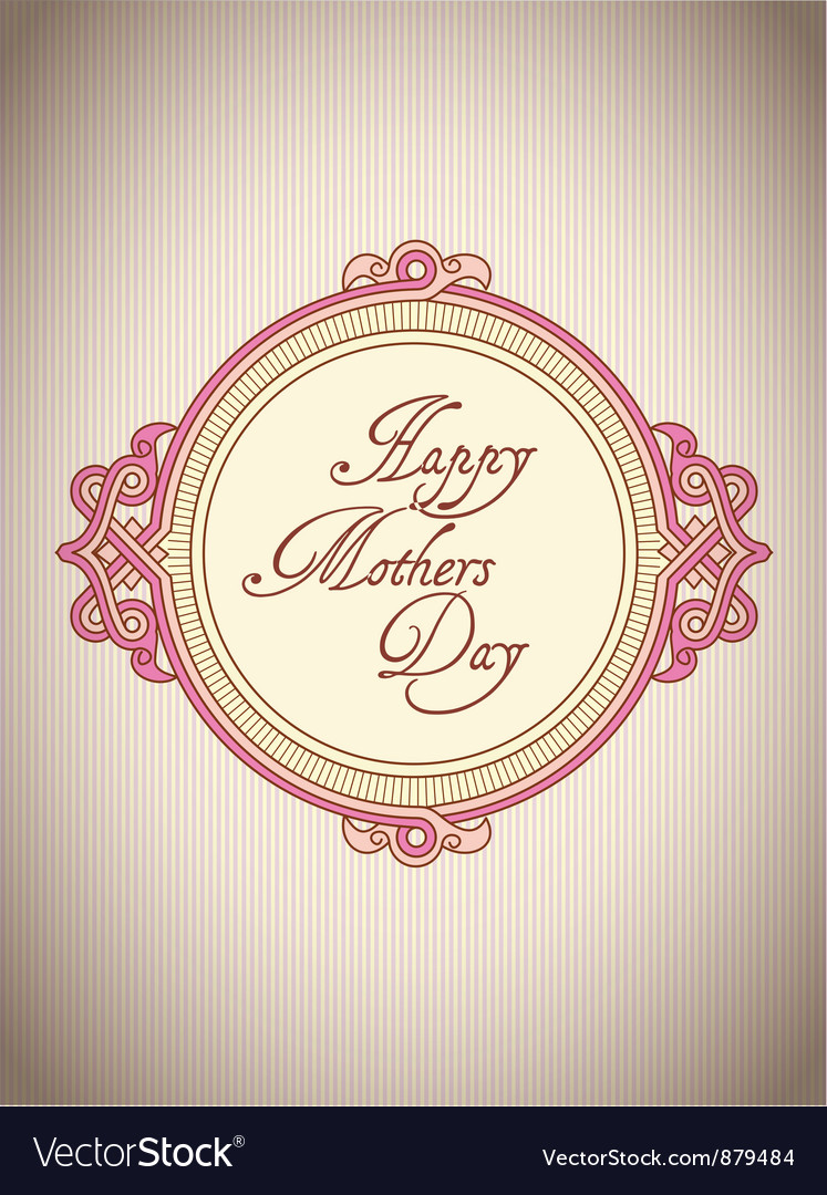 Mothers day greeting card vector | Price: 1 Credit (USD $1)