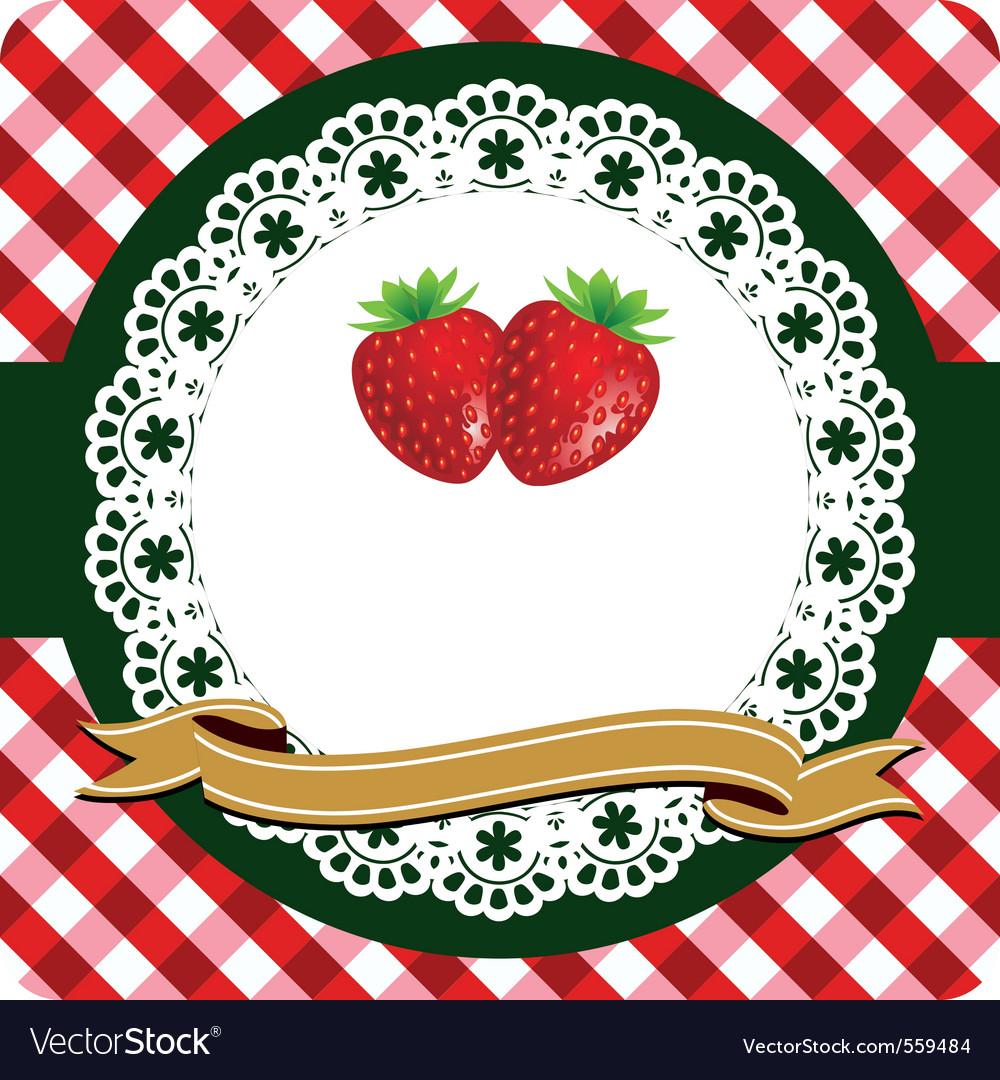 Strawberry label vector | Price: 1 Credit (USD $1)