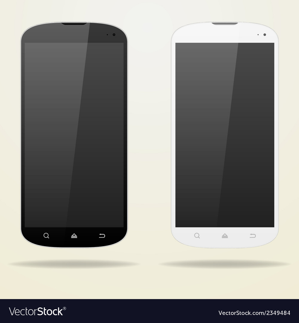 Two empty smartphone white and black buttons vector | Price: 1 Credit (USD $1)