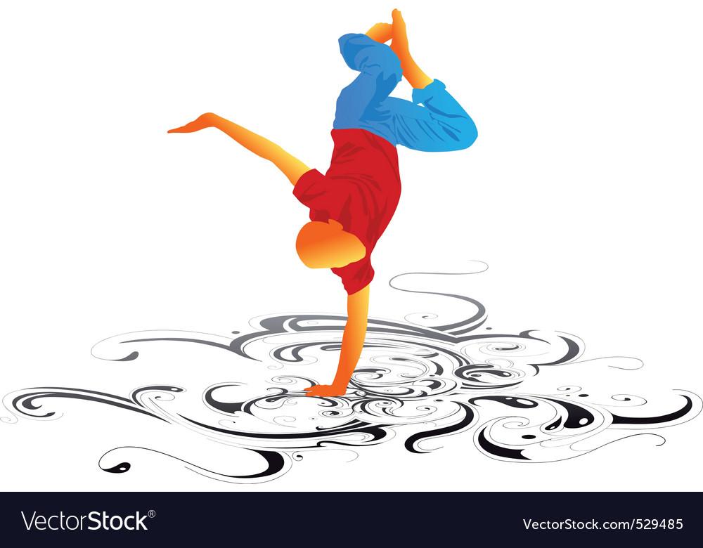Break dancing vector | Price: 1 Credit (USD $1)