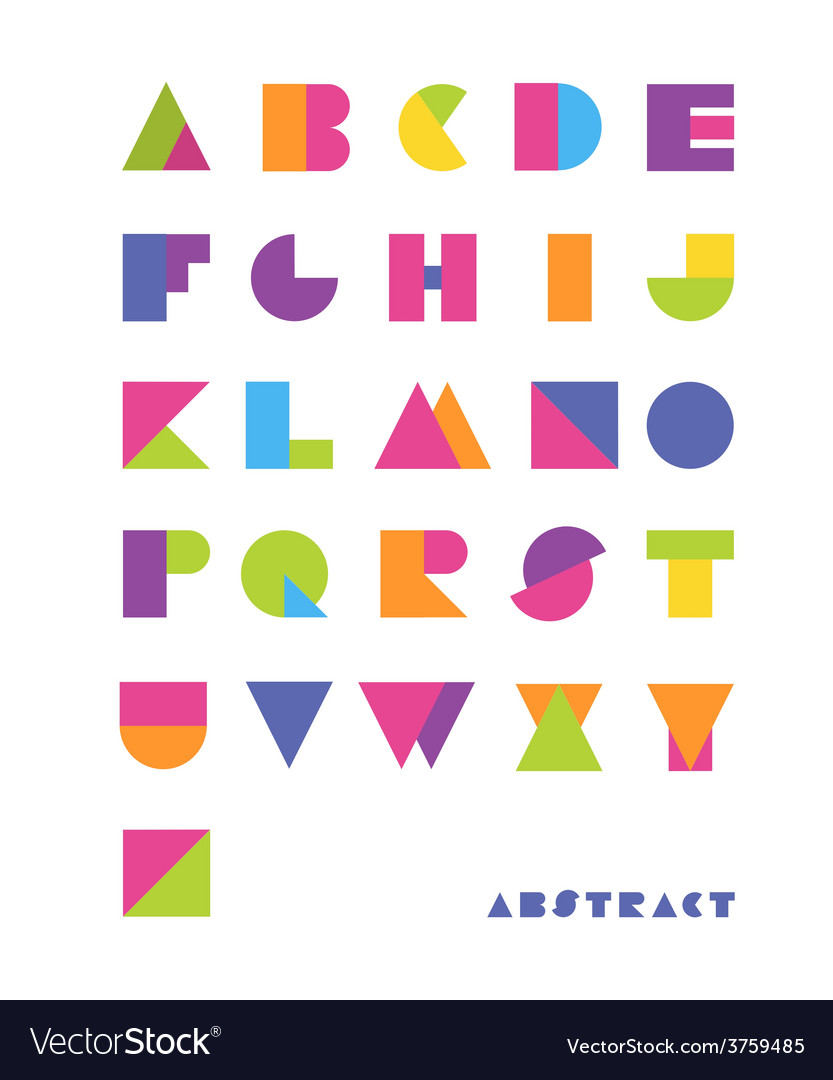 Bright abstract font vector | Price: 1 Credit (USD $1)