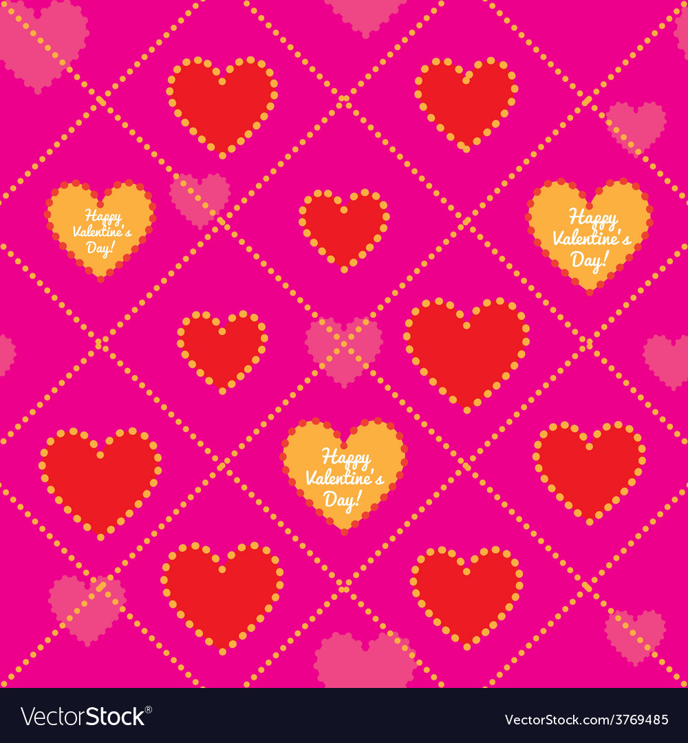 Happy valentines day seamless pattern vector | Price: 1 Credit (USD $1)