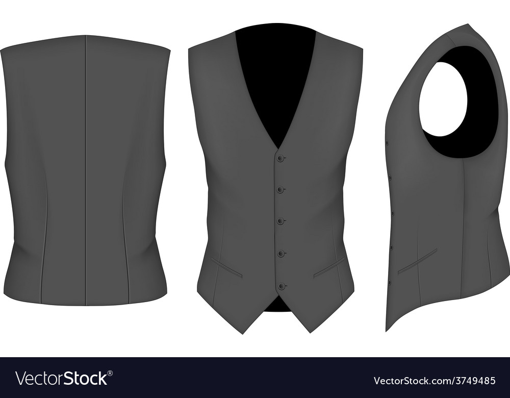 Men waistcoat for business men vector | Price: 3 Credit (USD $3)