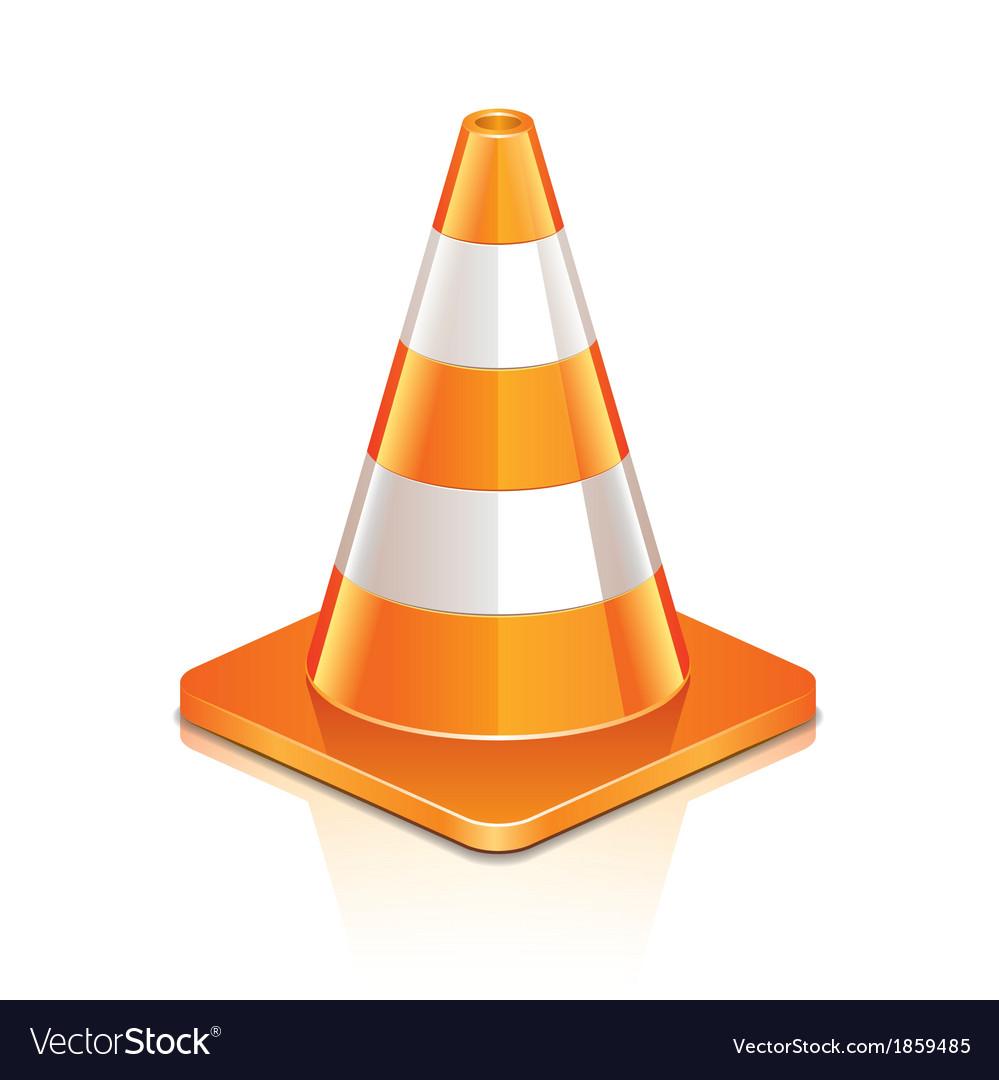 Object road cone vector | Price: 1 Credit (USD $1)