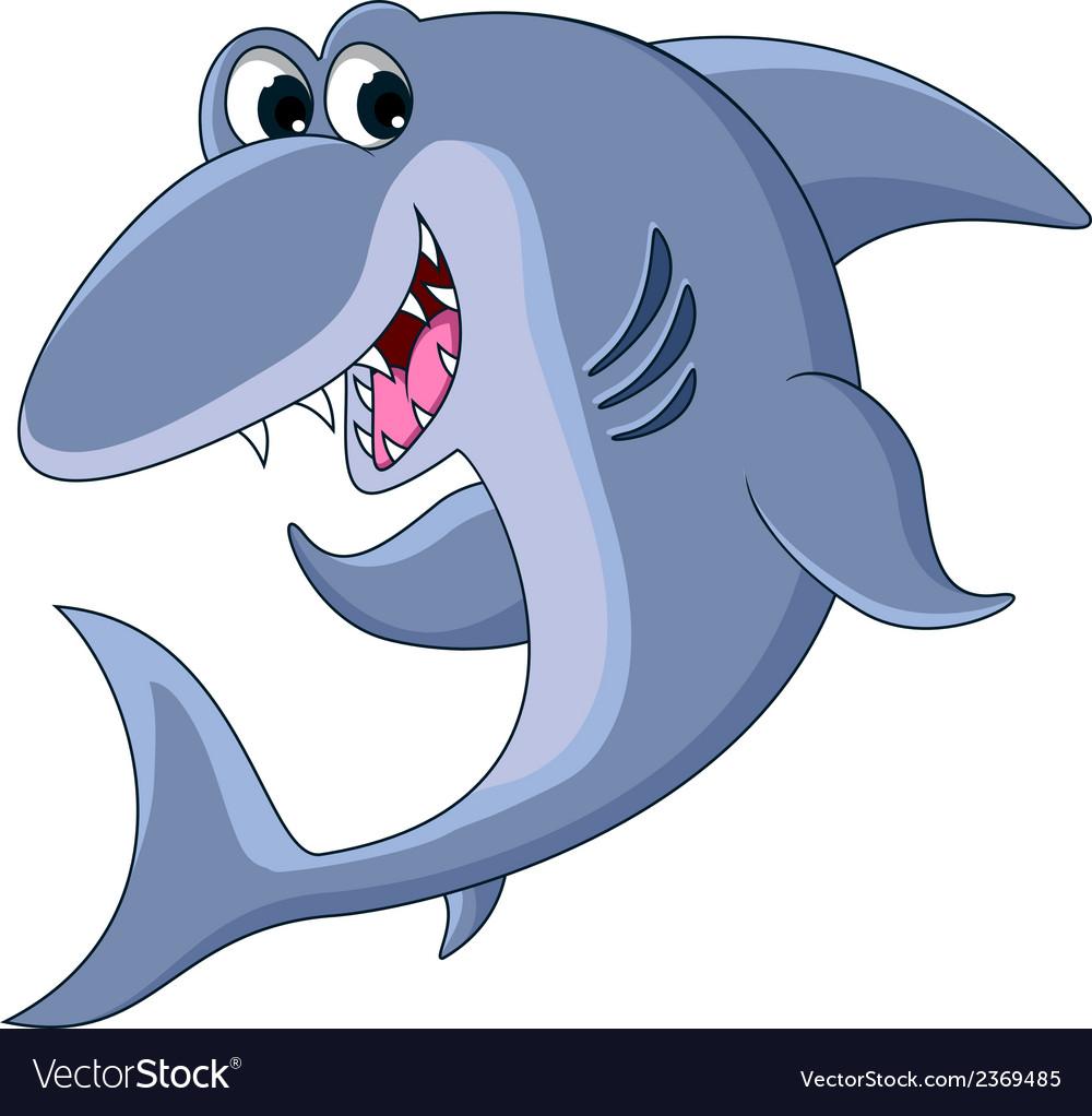 Shark cartoon smiling vector   Price: 1 Credit (USD $1)