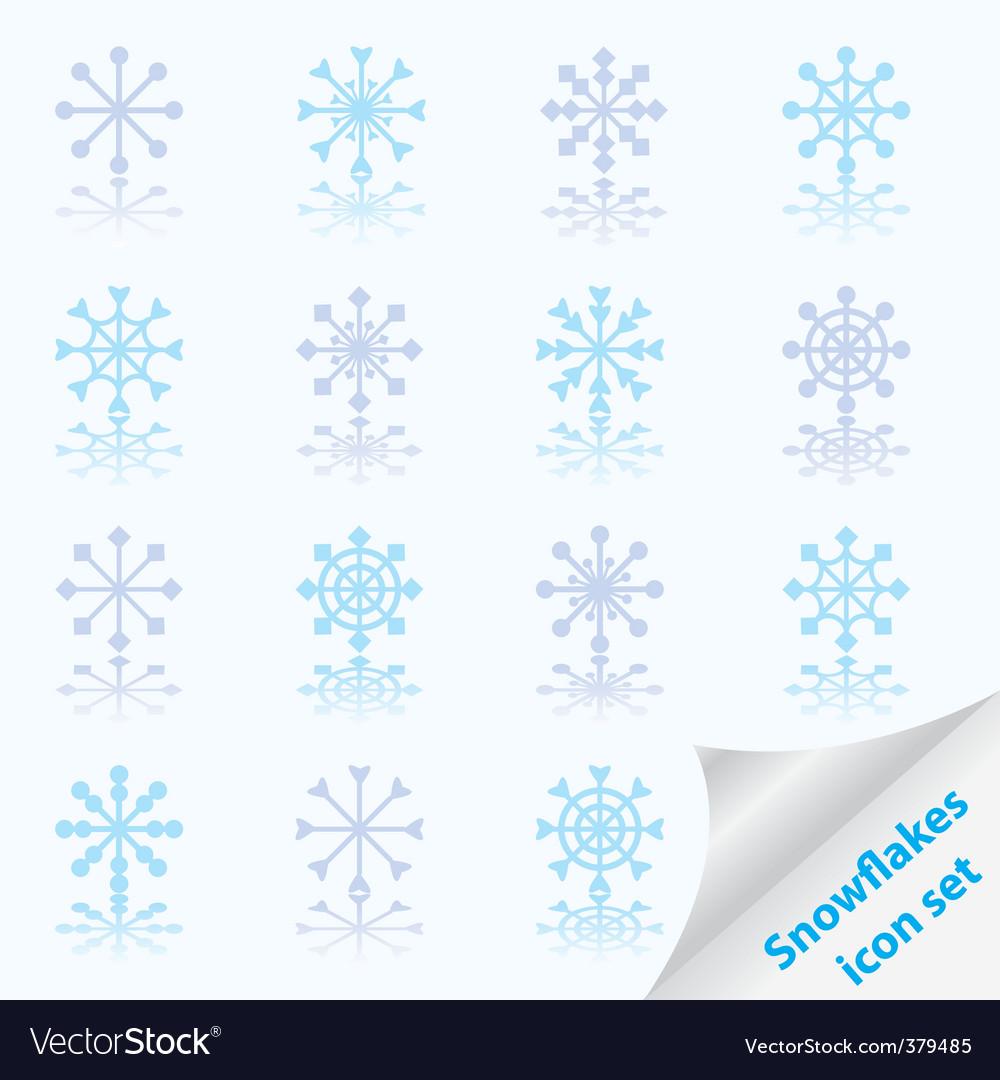 Snowflake set vector   Price: 1 Credit (USD $1)