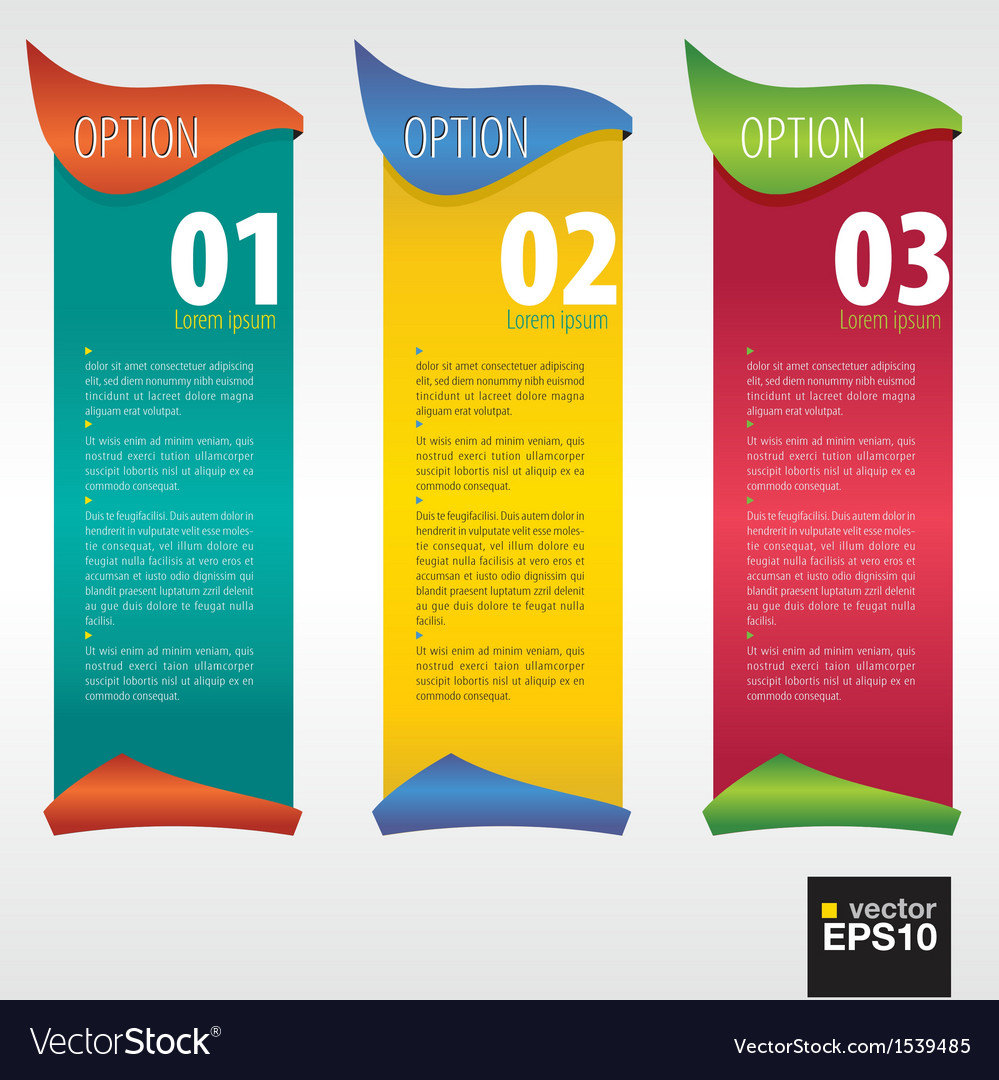 Vertical banner with number eps10 vector | Price: 1 Credit (USD $1)