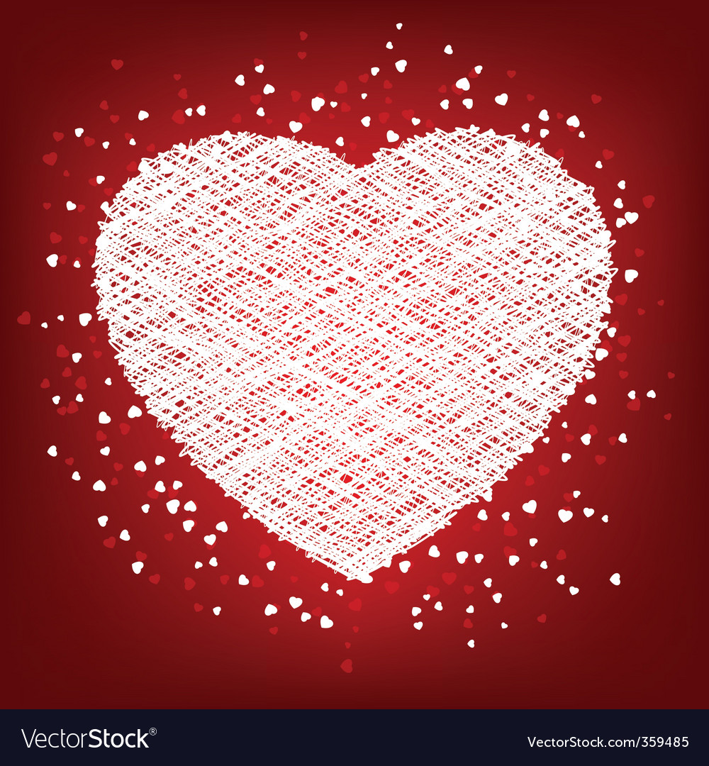 Weaving white heart card vector | Price: 1 Credit (USD $1)