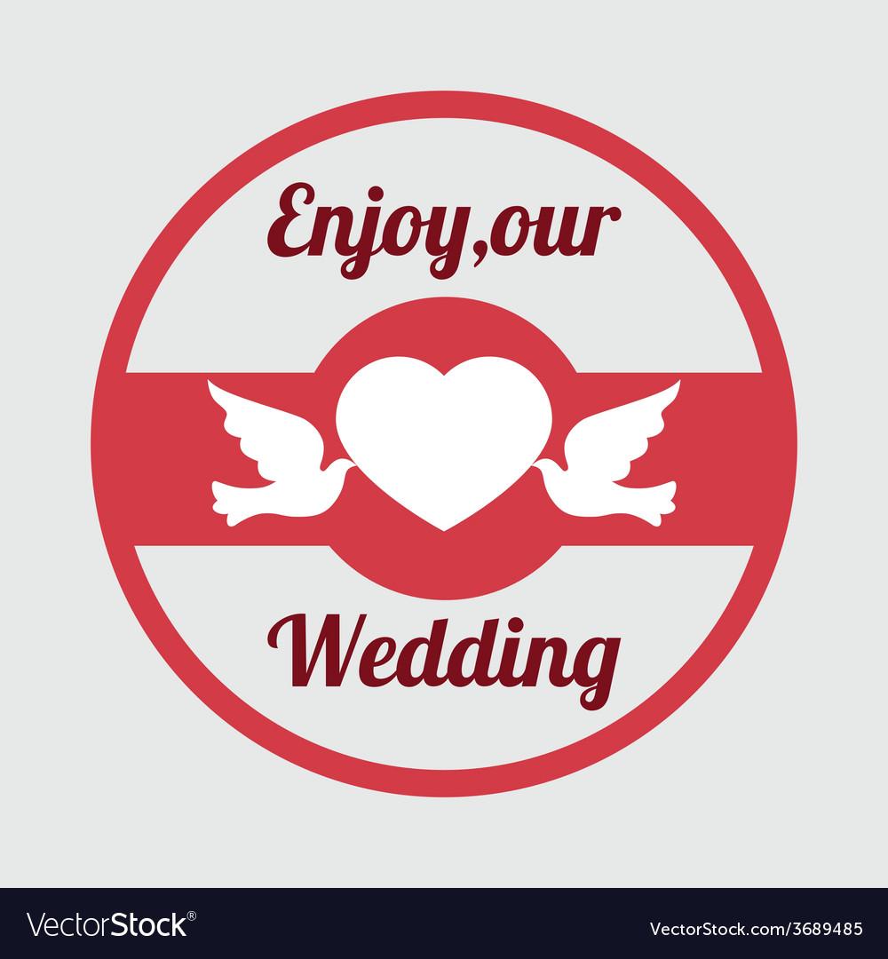 Wedding design over gray background vector | Price: 1 Credit (USD $1)