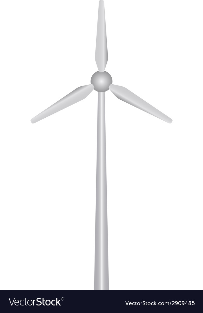 Wind power plant vector | Price: 1 Credit (USD $1)