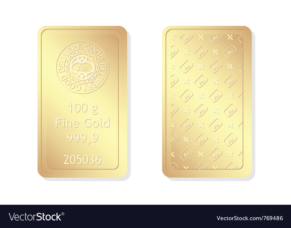 100g minted gold bar vector | Price: 1 Credit (USD $1)