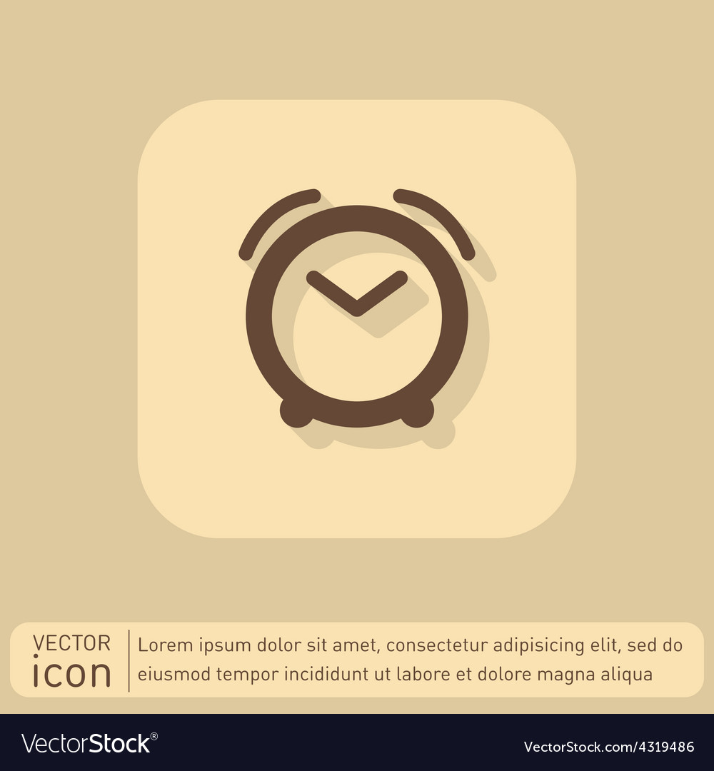 Alarm icon the clock shows the time vector | Price: 1 Credit (USD $1)