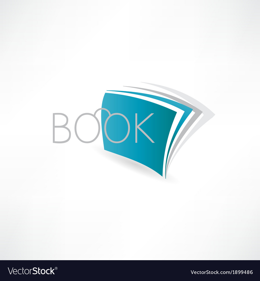 Book of knowledge abstract icon vector   Price: 1 Credit (USD $1)