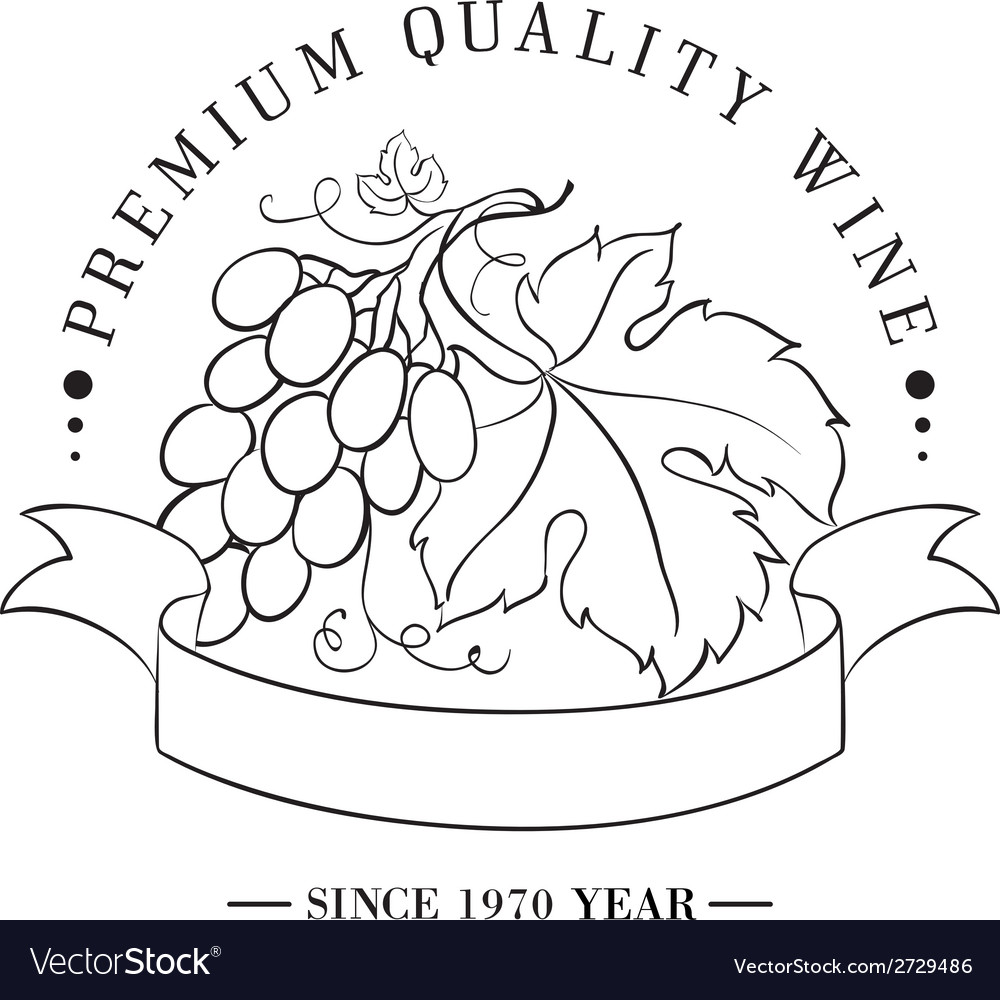 Design of logo for wine vector | Price: 1 Credit (USD $1)