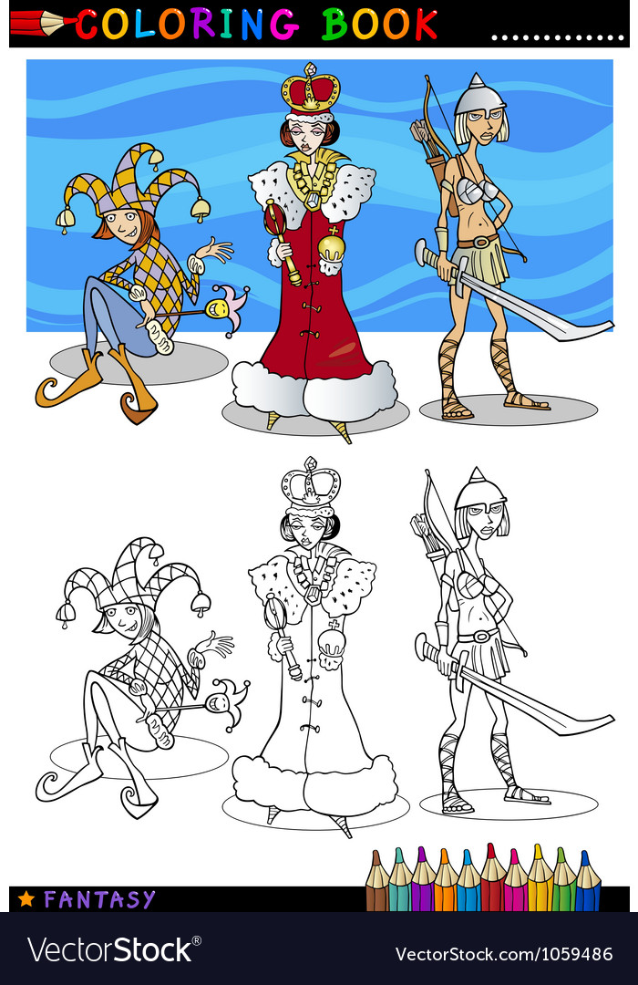 Fantasy characters for coloring vector | Price: 3 Credit (USD $3)