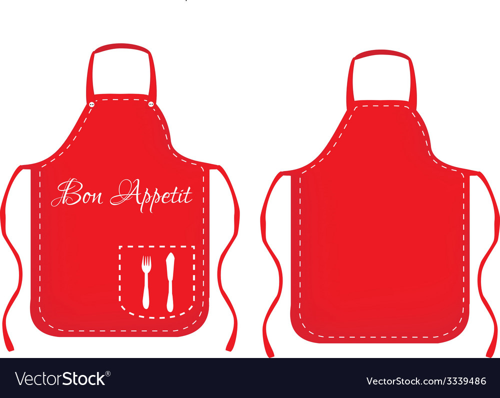 Kitchen apron vector | Price: 1 Credit (USD $1)
