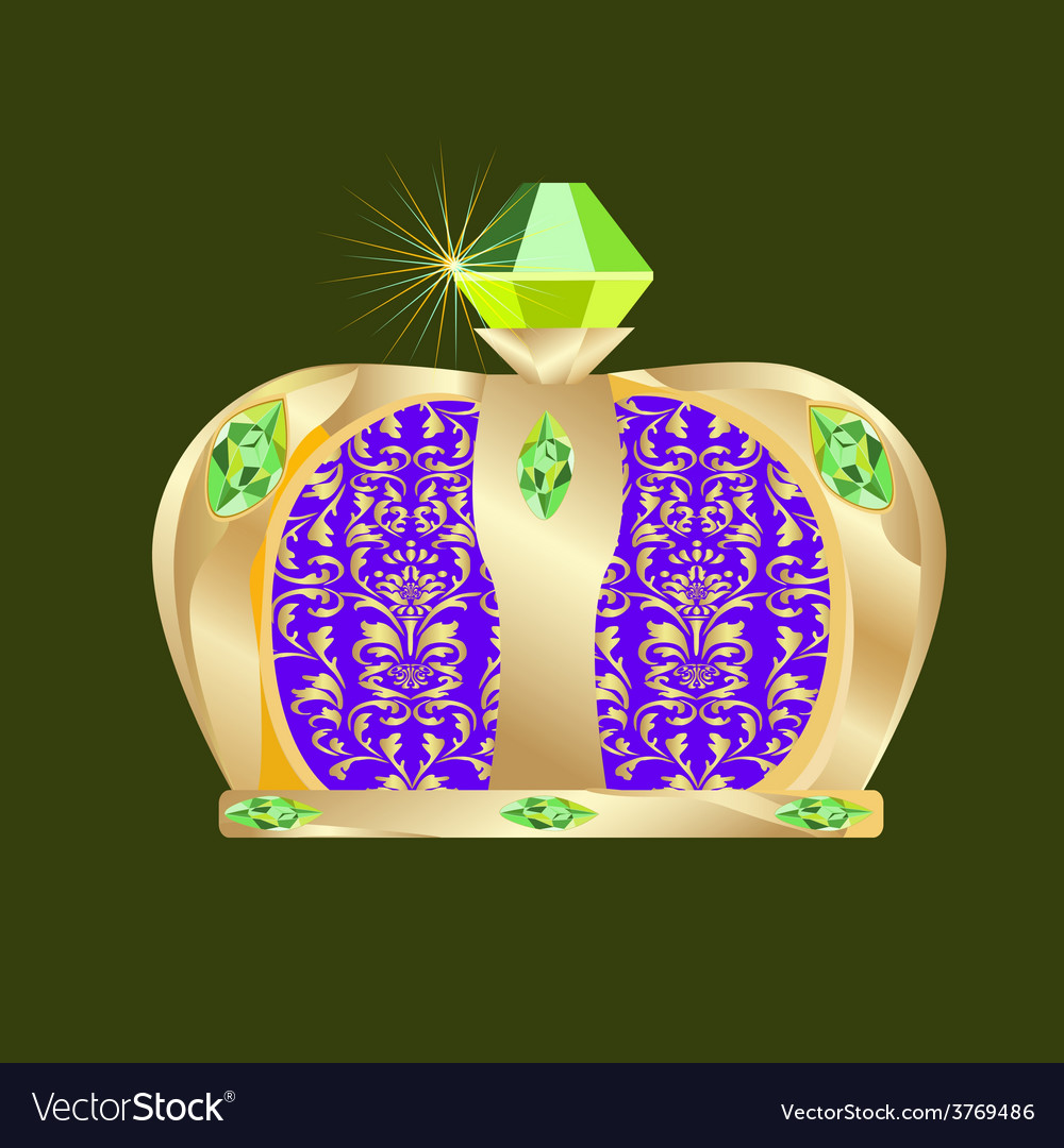 Mardi gras crown vector | Price: 1 Credit (USD $1)