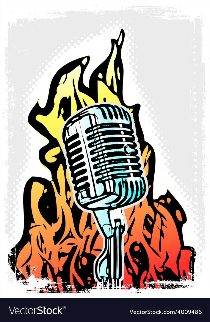 Microphone vector | Price: 3 Credit (USD $3)